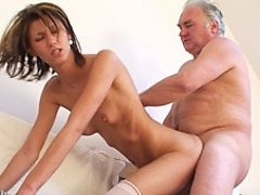Old fat man takes nubile beauty home after the lessons and fucks her young hairy pussy 0 mature sex pics