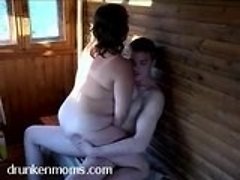 Fat mamma and man in crazy hardcore fucking in wooden house 0 mature sex pics