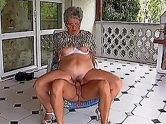 Grandma takes cock out on the porch 0 mature sex pics