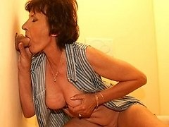 Give this mature slut a cock through the hole 0 mature sex pics