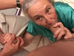 Sexy granny swallows some younger stud cock 0 mature sex pics
