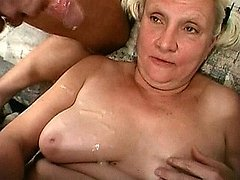 Horny granny slut getting facefucked by huge cocks 0 mature sex pics