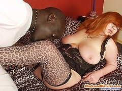 Mature redhead gets gagged by big black meat 0 mature sex pics