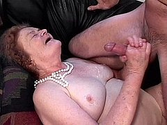 Super old grandma with saggy titties sucking cock 4 mature sex pics